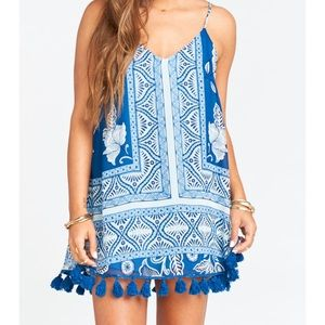 NWT Throw and Go Tassel Mini Dress